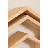 Menlo Kids Pine Wood wandplanken set van 3, miniatuur afbeelding 5