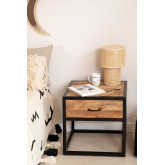 Bavi Wood Nachtkastje, miniatuur afbeelding 1
