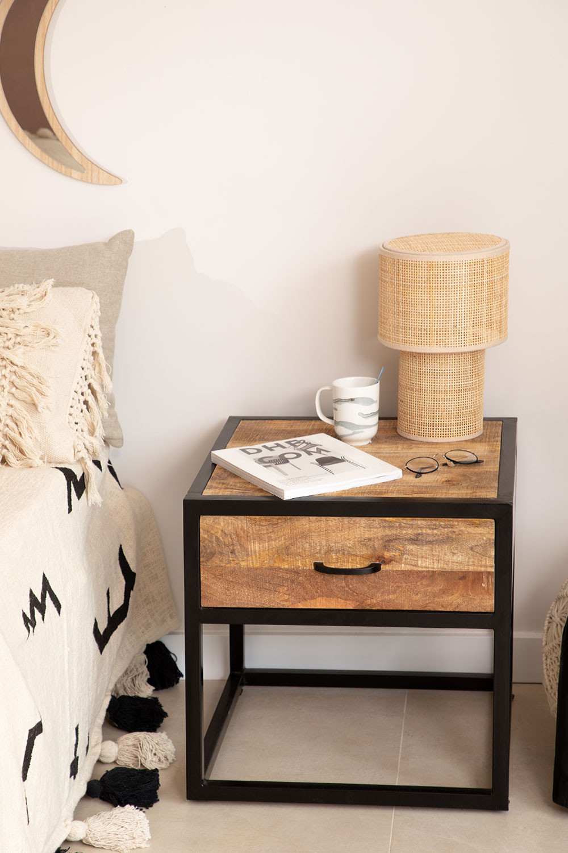 Bavi Wood Nachtkastje, galerij beeld 1