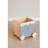 Madys houten opbergwagen voor kinderen, miniatuur afbeelding 2