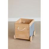 Madys houten opbergwagen voor kinderen, miniatuur afbeelding 3
