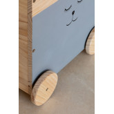 Madys houten opbergwagen voor kinderen, miniatuur afbeelding 4