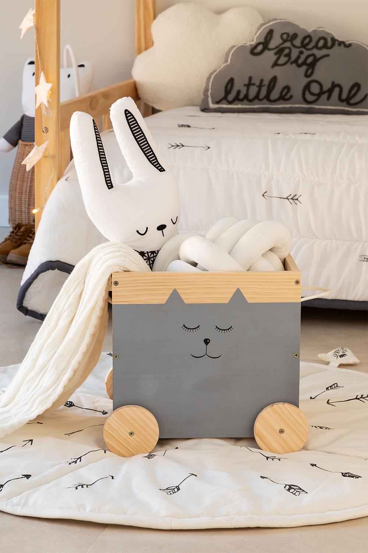 Madys houten opbergwagen voor kinderen, galerij beeld 1