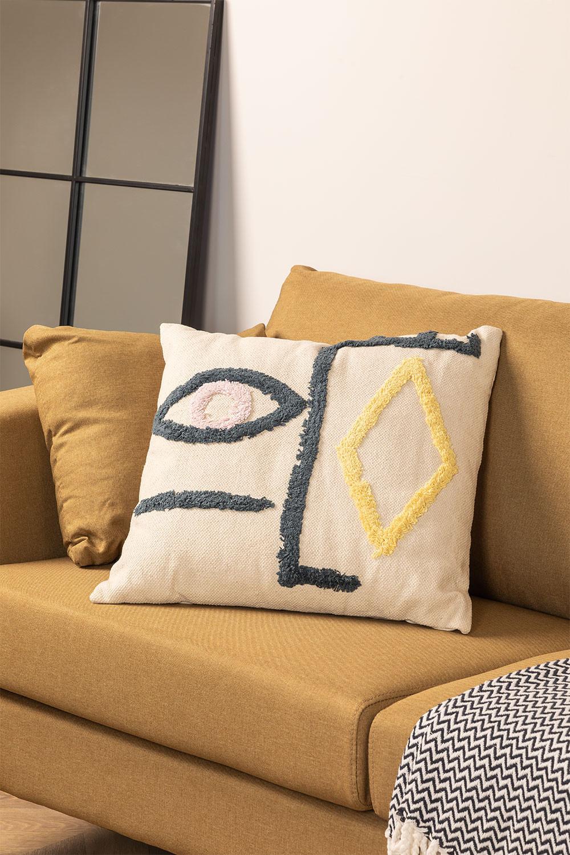 Katoenen kussen (50x50 com) Mandi, galerij beeld 1