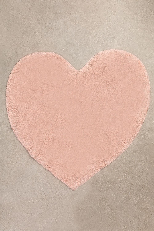 Katoenen vloerkleed hart (118x120 cm) Sina Kids, galerij beeld 1