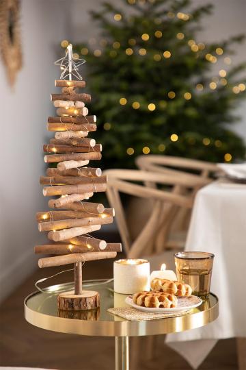 Houten kerstboom met Madi LED-verlichting