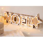Noel houten bord met led-verlichting, miniatuur afbeelding 1