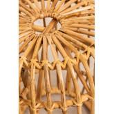 Zierd lage decoratieve rotan kruk, miniatuur afbeelding 3