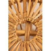 Zierd lage decoratieve rotan kruk, miniatuur afbeelding 4
