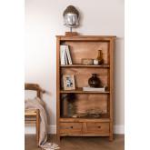 Set van 2 boekenkasten van gerecycled hout  Jara , miniatuur afbeelding 1