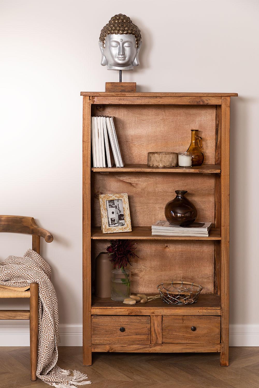 Set van 2 boekenkasten van gerecycled hout  Jara , galerij beeld 1