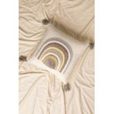 Kussen met katoenen borduursel (45x45 cm) Cova, miniatuur afbeelding 1