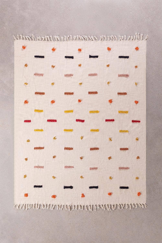 Geruite deken in Nanki katoen, galerij beeld 1