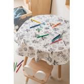 Wasbaar tafelkleed met 12 Fanni Kids kleurstiften, miniatuur afbeelding 1