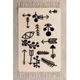 Rechthoekig katoenen vloerkleed (110x62 cm) Indi Kids, miniatuur afbeelding 2