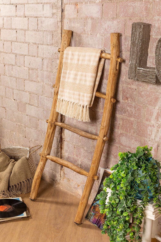 Trap van gerecycled hout Taira, galerij beeld 1