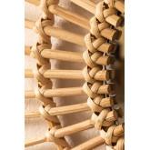 Ronde bamboe wandspiegel (66x66 cm) Etual, miniatuur afbeelding 4