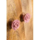 Set van 2 handvatten van roze keramiek, miniatuur afbeelding 2