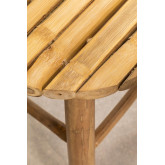 Lage kruk in bamboe Dilio, miniatuur afbeelding 4
