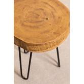 Kolej Bijzettafel van natuurlijk hout, miniatuur afbeelding 3