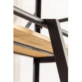 Uain boekenkast van gerecycled hout met ladder, miniatuur afbeelding 6