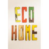 Decoratieletters in gerecycled hout List, miniatuur afbeelding 1