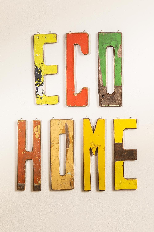 Decoratieletters in gerecycled hout List, galerij beeld 1
