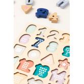 Puzzel met houten cijfers Nemi Kids, miniatuur afbeelding 3