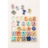 Puzzel met houten cijfers Nemi Kids, miniatuur afbeelding 2
