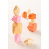 Houten Petri Kids stapelstenen, miniatuur afbeelding 1