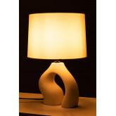 Tafellamp in stof en polyethyleen Mimba, miniatuur afbeelding 4