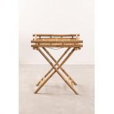 Wallis opvouwbare bijzettafel met dienblad in bamboe, miniatuur afbeelding 2