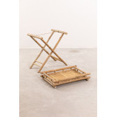 Wallis opvouwbare bijzettafel met dienblad in bamboe, miniatuur afbeelding 3