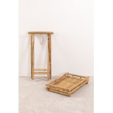 Wallis opvouwbare bijzettafel met dienblad in bamboe, miniatuur afbeelding 4