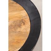 Ronde salontafel van mangohout en ijzer (Ø90 cm) Muty, miniatuur afbeelding 3
