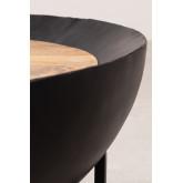 Ronde salontafel van mangohout en ijzer (Ø90 cm) Muty, miniatuur afbeelding 4