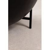Ronde salontafel van mangohout en ijzer (Ø90 cm) Muty, miniatuur afbeelding 5