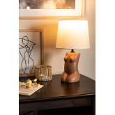 Kazi tafellamp van polyethyleen en stof, miniatuur afbeelding 2