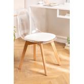 Transparante Scandinavische eetkamerstoel, miniatuur afbeelding 1
