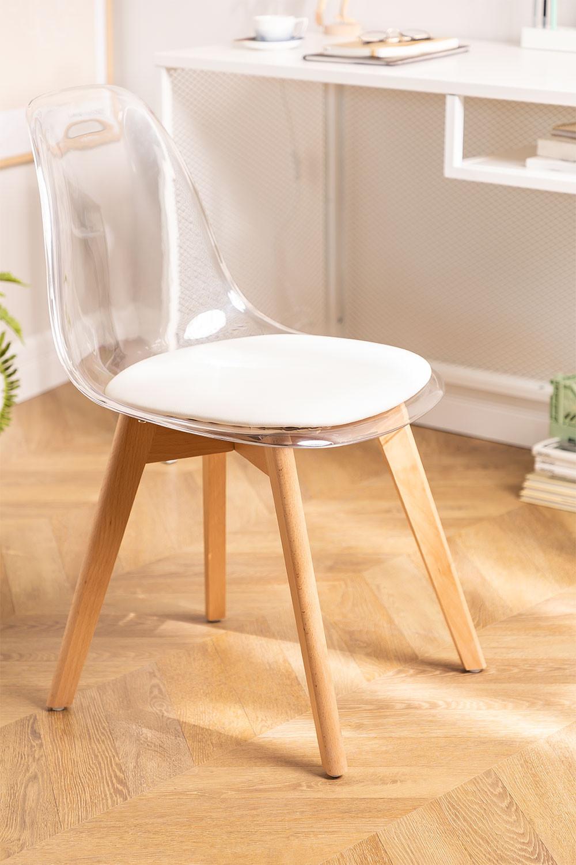 Transparante Scandinavische eetkamerstoel, galerij beeld 1