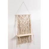 Wandtapijt met wandplank in katoenen piep, miniatuur afbeelding 2