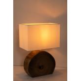 Tafellamp in hout en stof Abura, miniatuur afbeelding 4