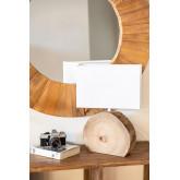 Tafellamp in hout en stof Abura, miniatuur afbeelding 1