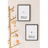 Set van 2 decoratieve kerstborden (30x40 cm) kerstman, miniatuur afbeelding 1