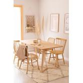 Rechthoekige eettafel in essenhout (160x80 cm) Keira, miniatuur afbeelding 1