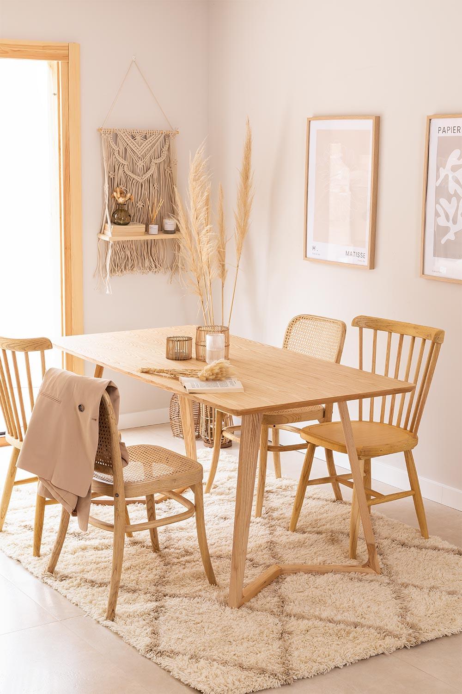 Rechthoekige eettafel in essenhout (160x80 cm) Keira, galerij beeld 1