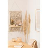 Wandtapijt met wandplank in katoenen piep, miniatuur afbeelding 1