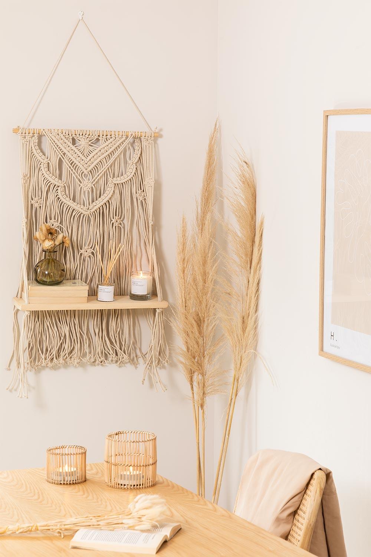 Wandtapijt met wandplank in katoenen piep, galerij beeld 1