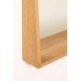 Rechthoekige Wandspiegel met MDF Plank (50x80 cm) Nurah, miniatuur afbeelding 3