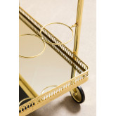 Ashi Serveersterwagen met metalen en spiegels, miniatuur afbeelding 4